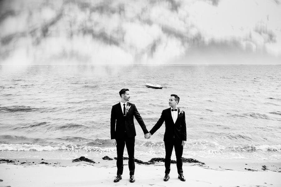 grooms portraits on beach