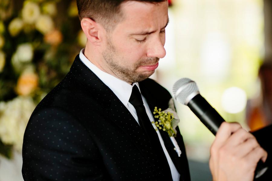 groom speech crying