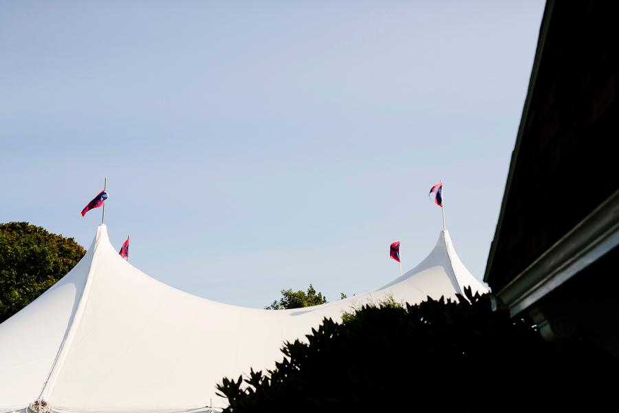 Exterior tent shot marblehead