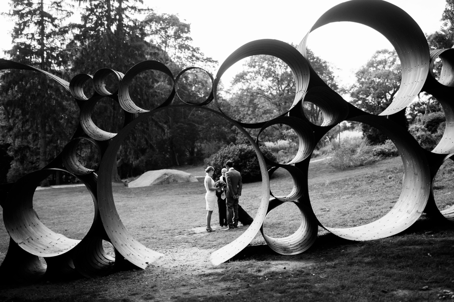 Elopement wedding photography Decordova sculpture park lincoln Massachusetts