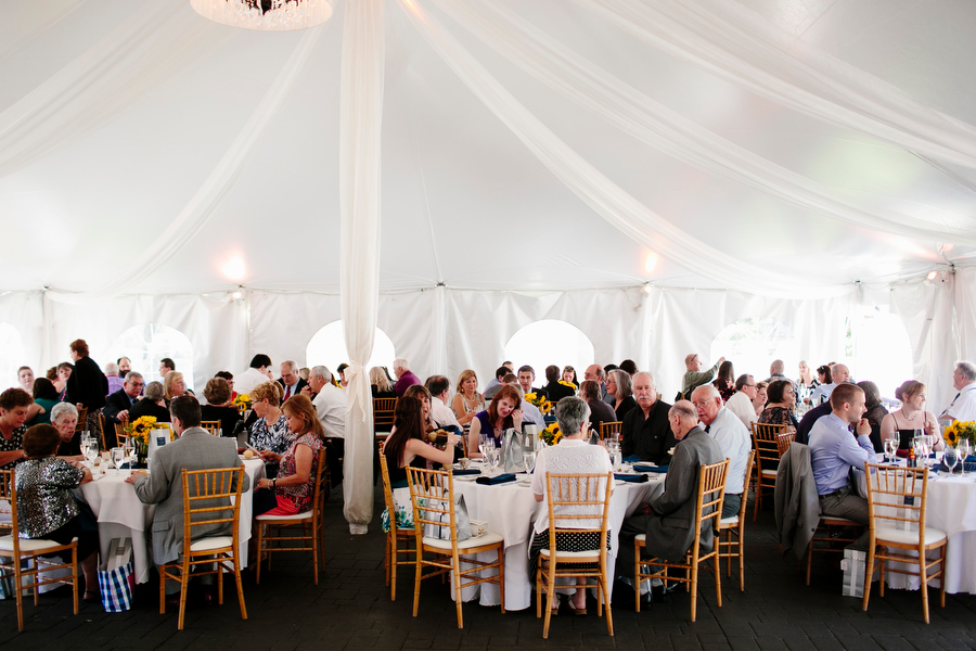 reception in tent
