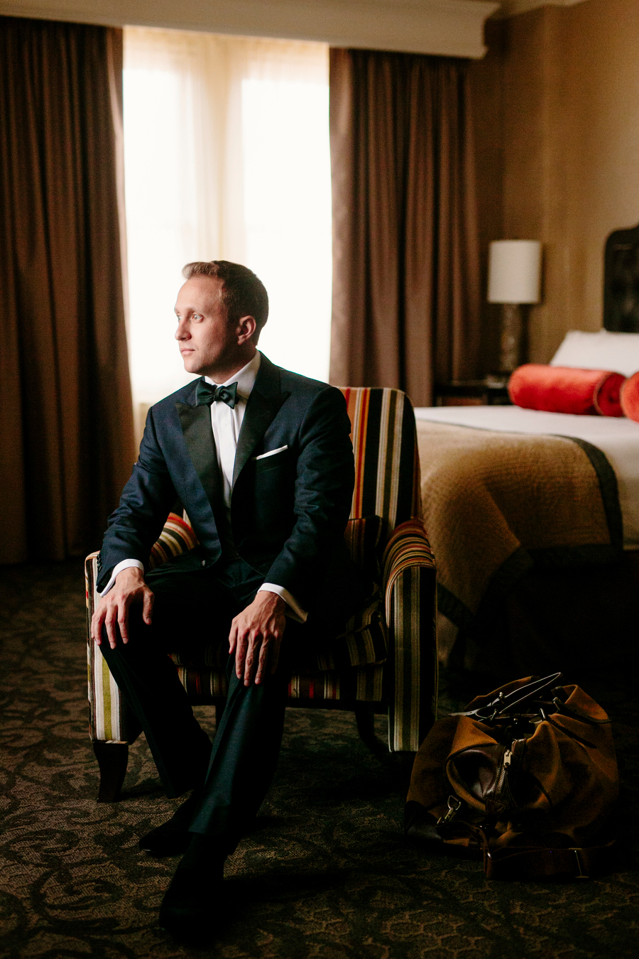 Groom portrait at the lenox hotel