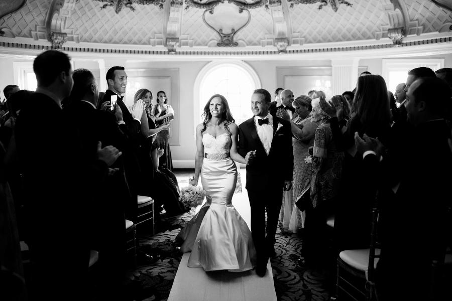 wedding ceremony at lenox hotel