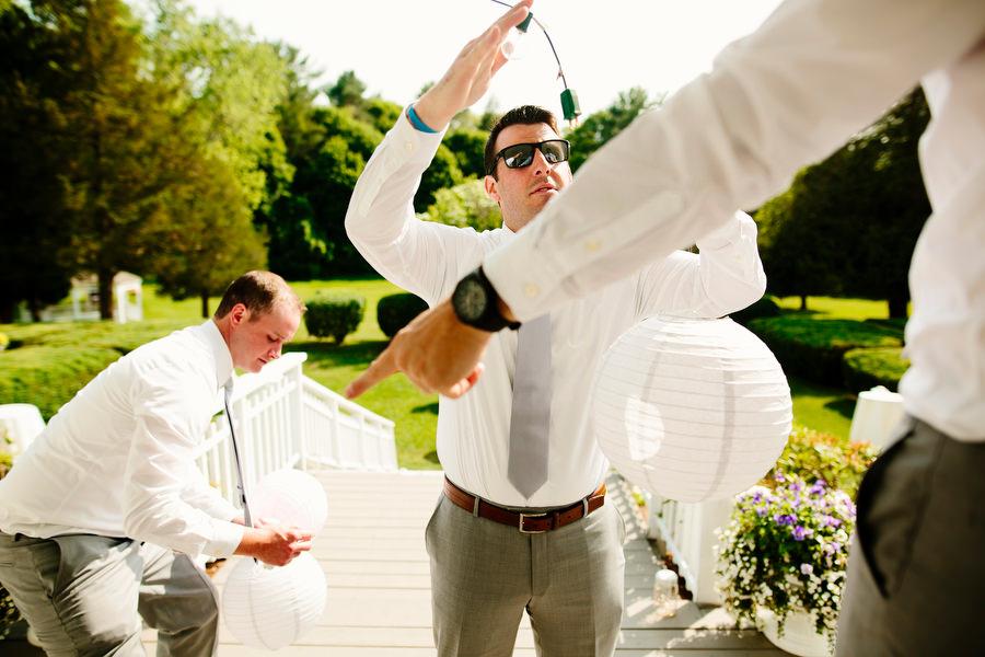 DIY wedding prep