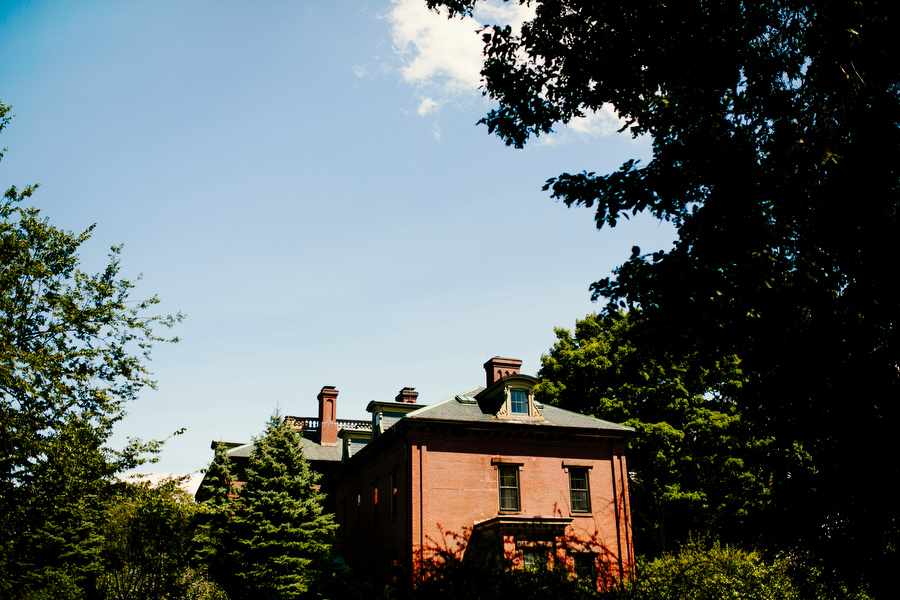 Exterior of commanders mansion