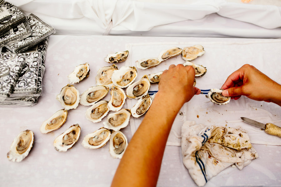 wedding day oysters