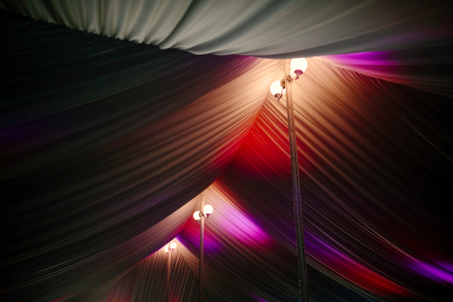 tent uplighting orange and pink