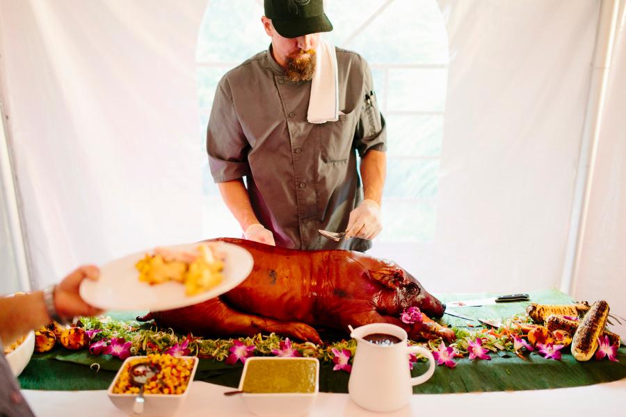 whole roasted pig
