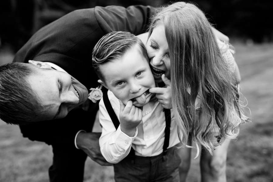 Funny ring bearer making faces