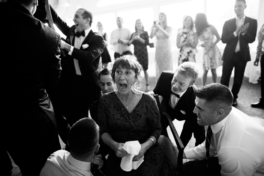 Mom during the hora