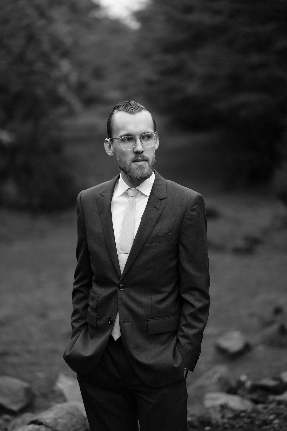 portrait of the groom in chile wedding elopement