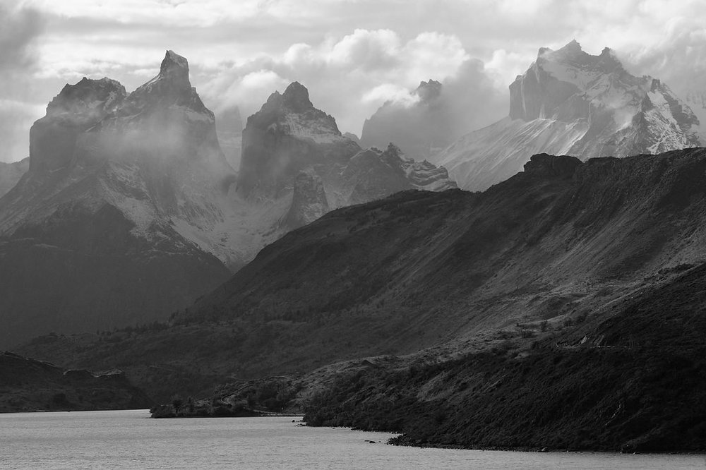 mountains during wedding elopement destination wedding in patagonia chile