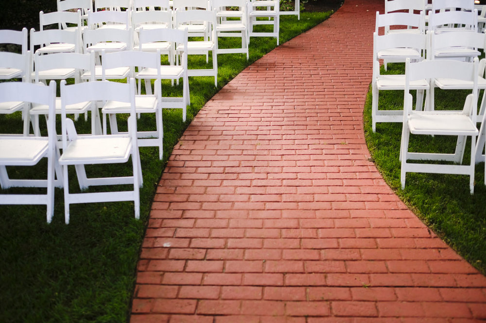 home wedding ceremony on the south shore