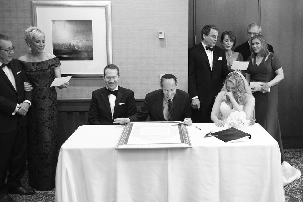 making things official at traditional jewish ritz carlton boston wedding