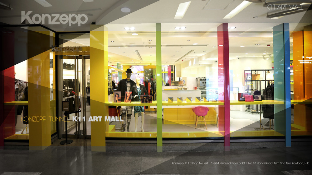 KONZEPP    K11 Art mall  UNIT G11, G24,  18 HANOI ROAD, TSIM SHA TSUI, KOWLOON, HONG KONG