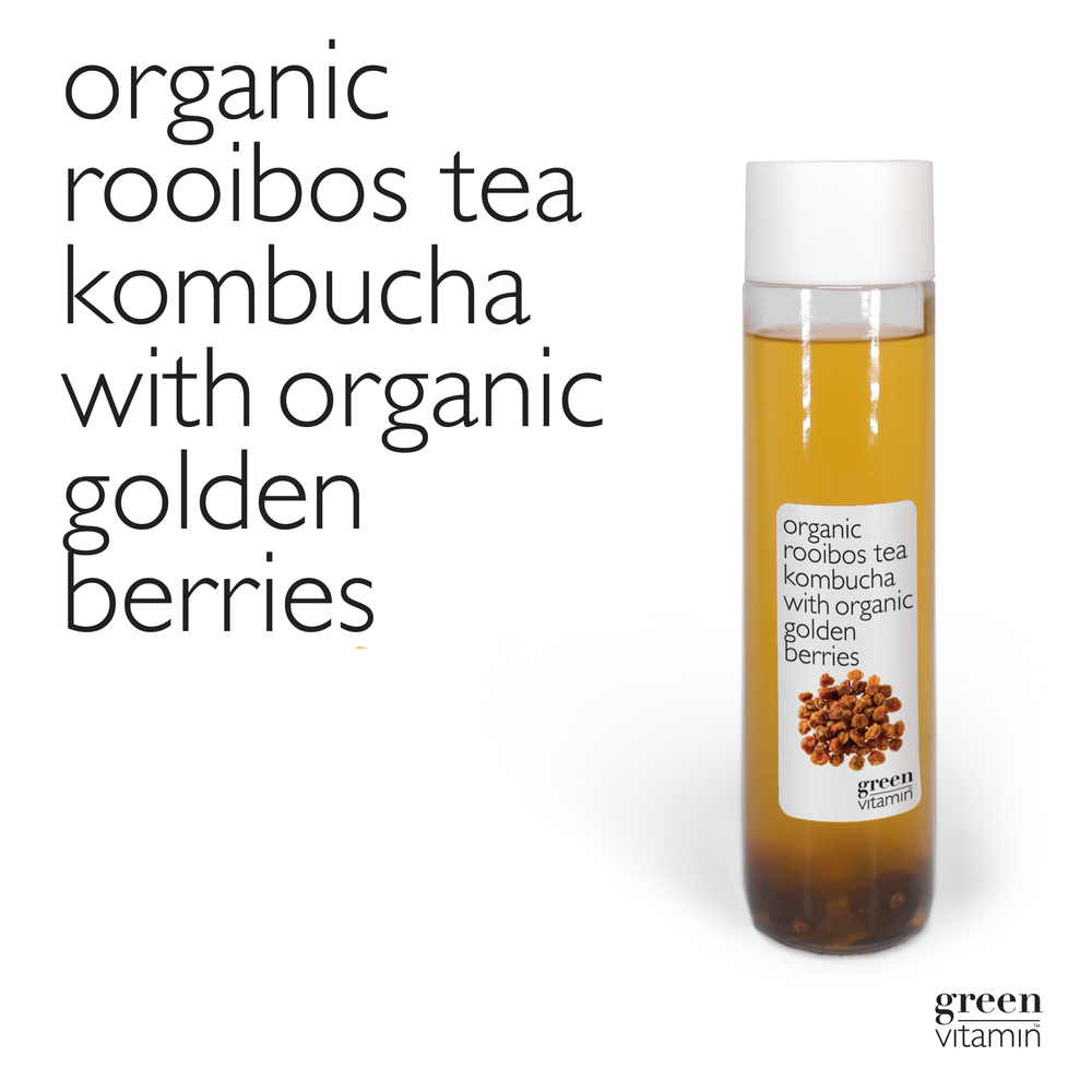 THE POWER OF FERMENTATION CHANGES ORGANIC ROOIBOS TEA AND AMAZING ORGANIC GOLDEN BERRIESINTO A LIVING AND NOURISHING DRINK THAT HELPS YOUR BODY DETOX.