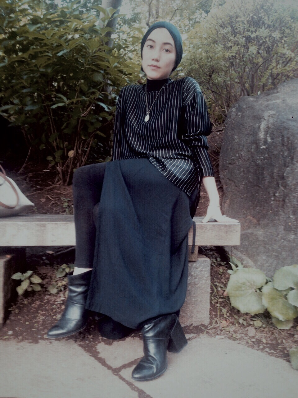 UNIQLO x Hana Tajima wrap skirt and headscarf