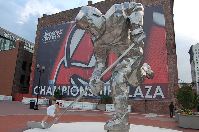 Jon Krawczyk Untitled NJ Devils Sculpture Prudential Center Newark Gino Leslie 1.JPG