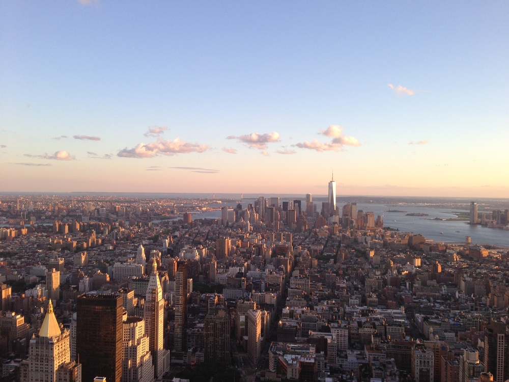 The concrete jungle of my dreams, taken from the Empire State Building. Photo credit, Lynette Salas