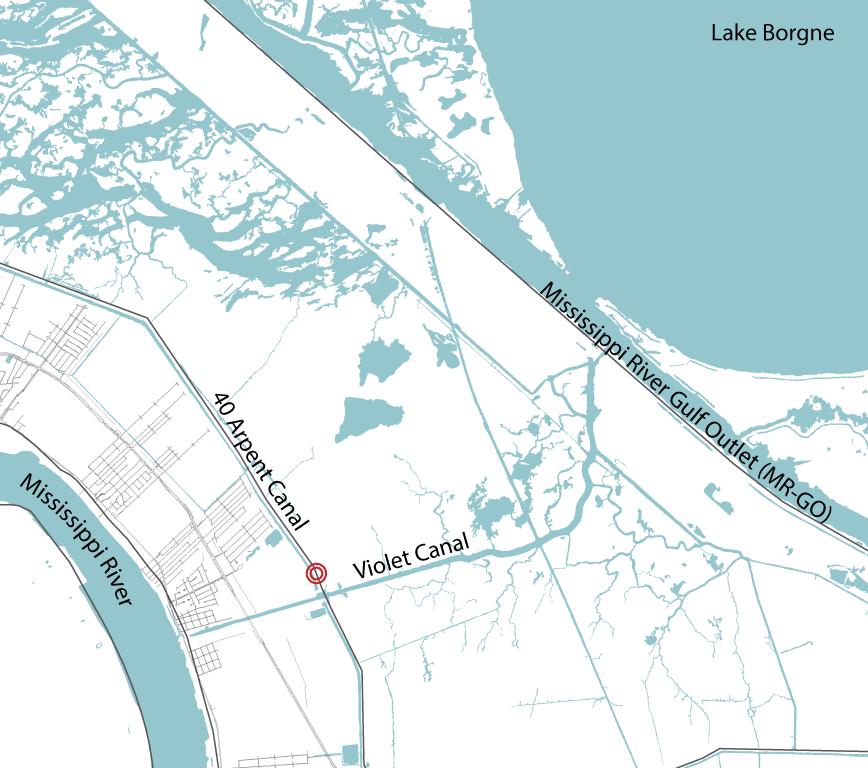 map // saint bernard parish