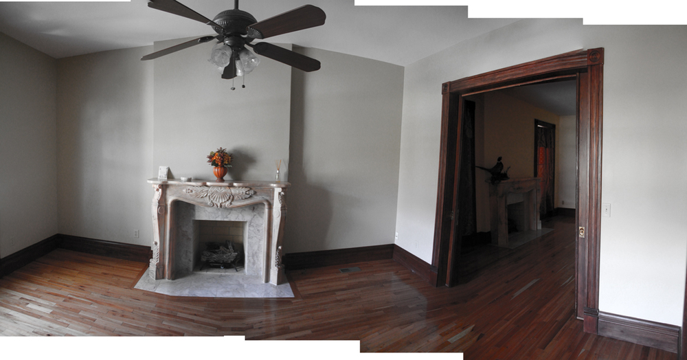 Before- Living Room and Dining Room