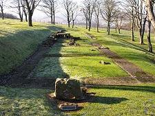 Barhill Roman Fort ruins near Kilsyth