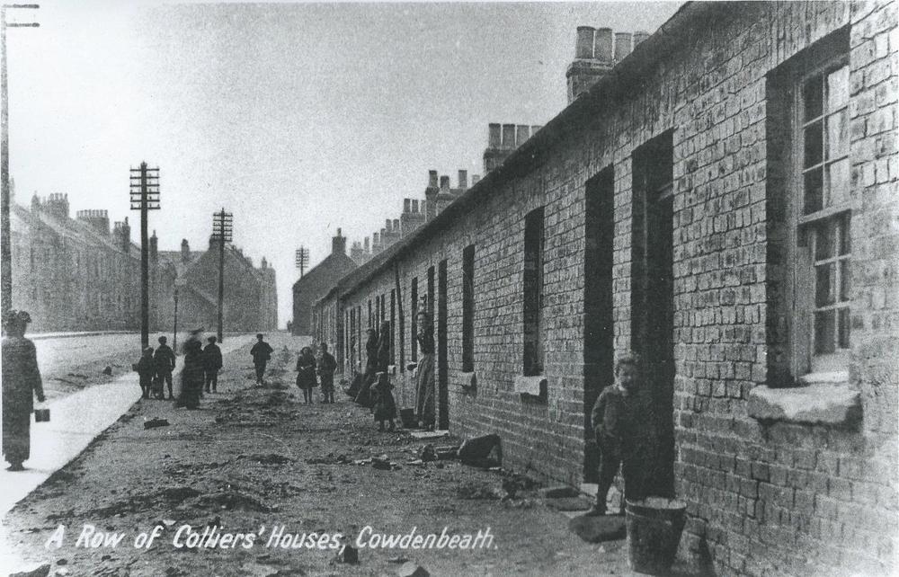 A typical Miners' Row, Cowdenbeath near Hill of Beath, Fife