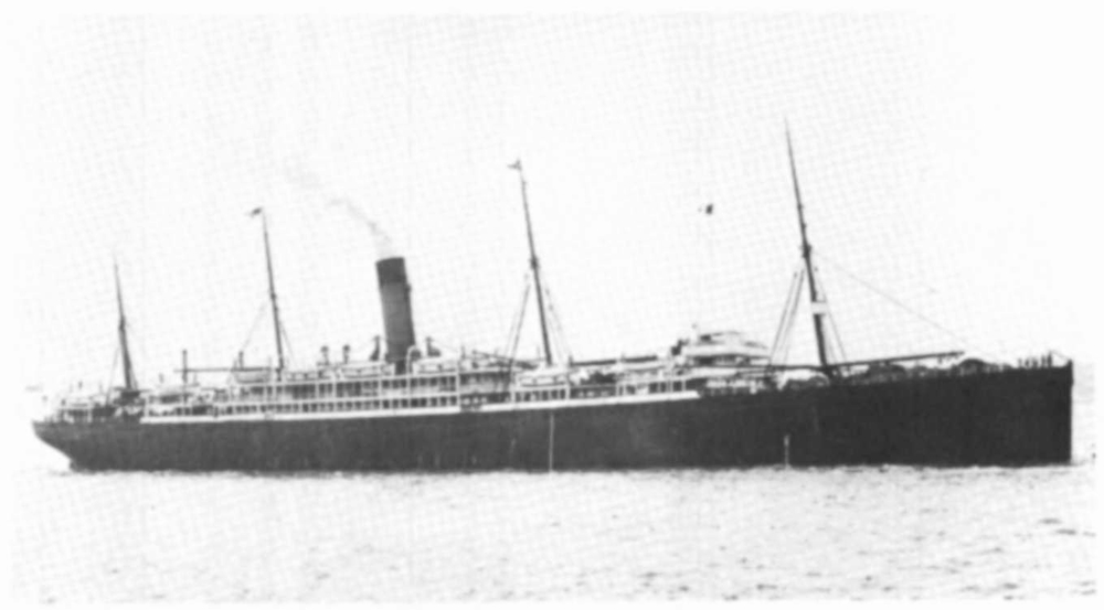 The  Athenic  steam ship was built by Harland and Wolff, Belfast, Ireland, 15,187 tons. Operated by Shaw - Savill & Albion Co. Ltd.