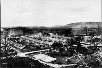 Twechar - Barrhill Miners' Rows, Kirkintilloch,further shot.