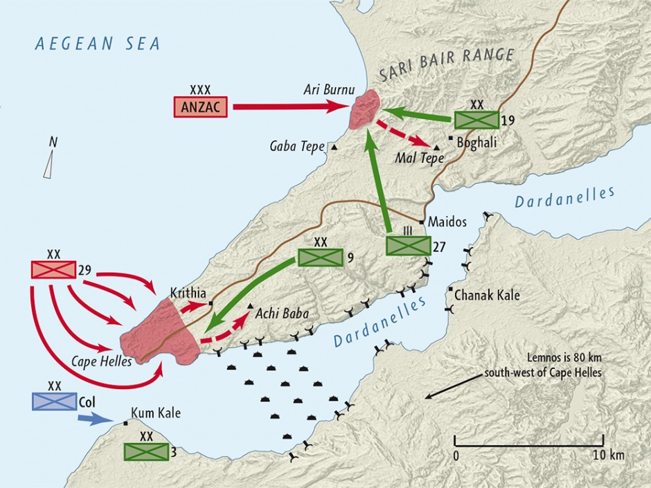 The Gallipoli Campaign began in February 1915 with a Naval attack which failed to force a way through the Dardanelles Straits and capture Constantinople (Istanbul). The Land invasion followed by the ANZAC on 25 April 1915.