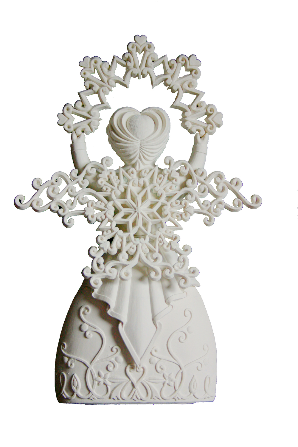 Porcelain Collectible Angel Ornament - Snowflake Angel Family