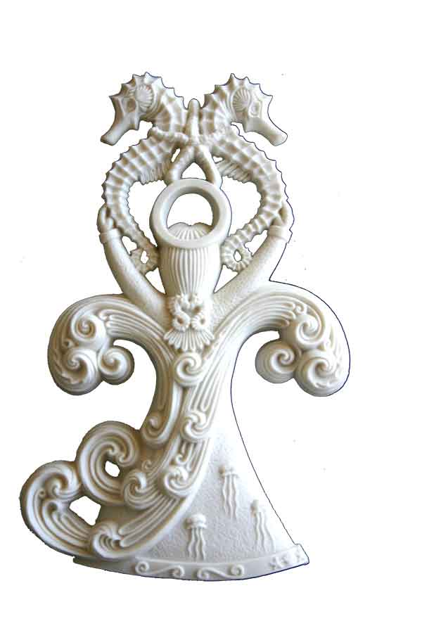 Porcelain Collectible Angel Ornament - Behold the Sea Angel Family