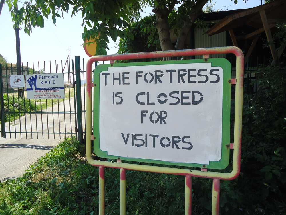 Kale Fortress in Skopje; currently closed to visitors