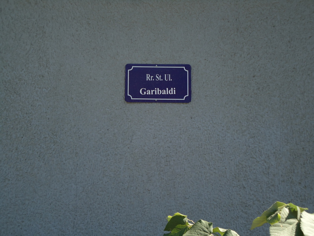 A rare street sign in Prishtina