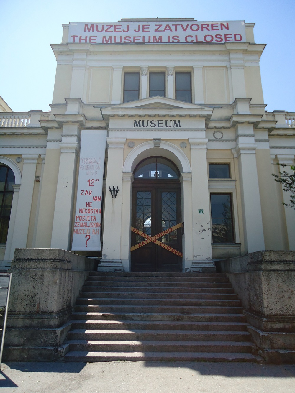 Sarajevo's National Museum: closed since 2012