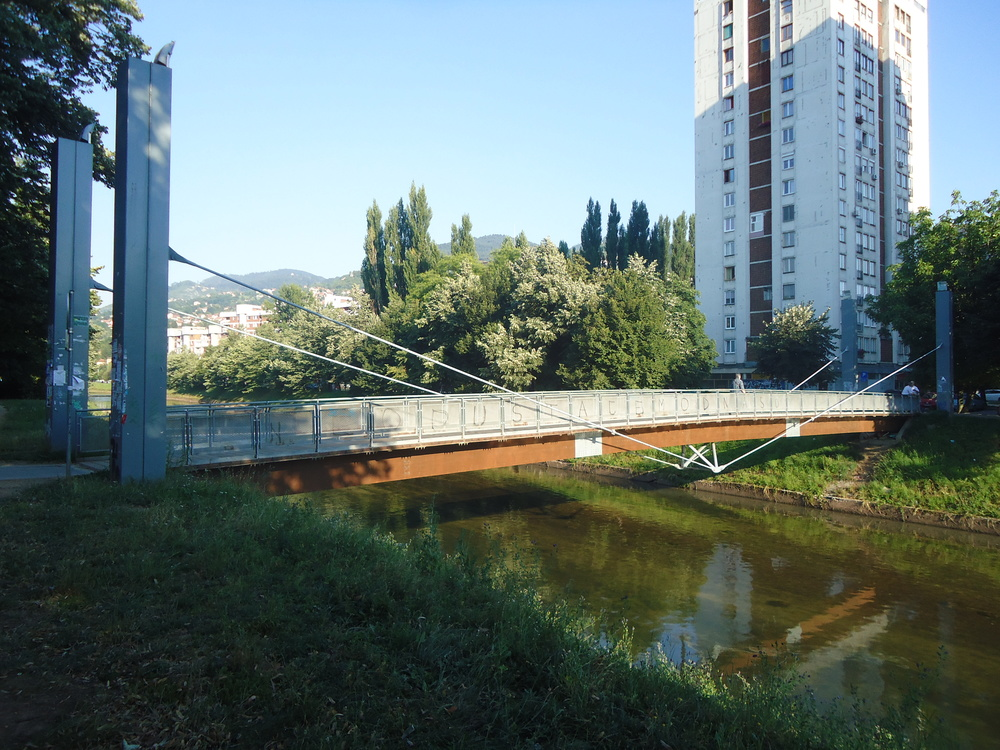 Bridge Across the Miljacka: Ars Aevi Bridge by Renzo Piano