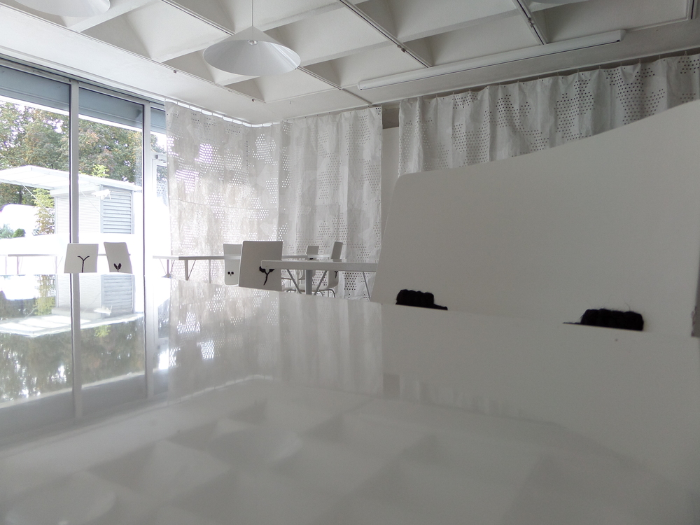 The Reading Room at the Lithuanian Contemporary Art Centre. It's very white!