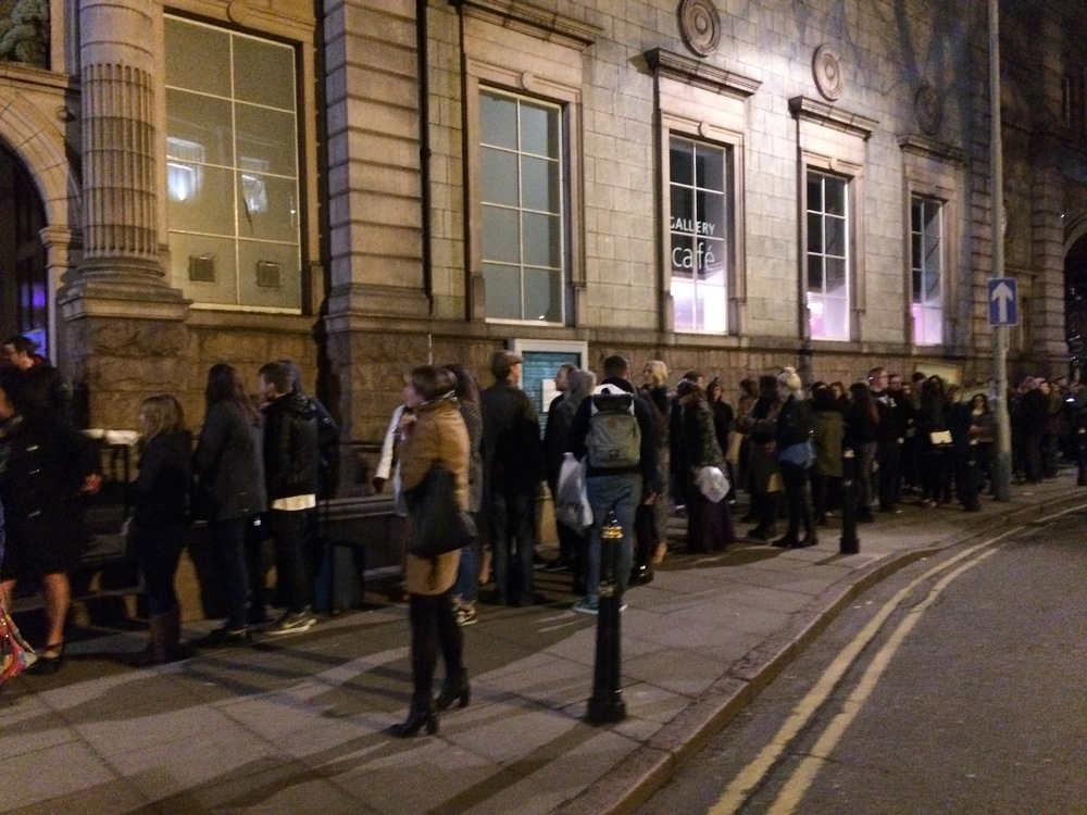 There were lines out the door to get into Aberdeen art gallery's after hours: extreme makeover, where we were performing