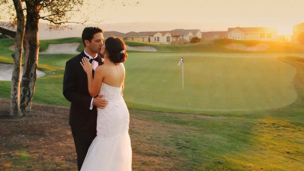 Bride and groom at the Ranch Golf Club