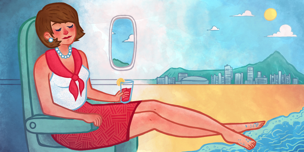 United Airlines Ad Illustration
