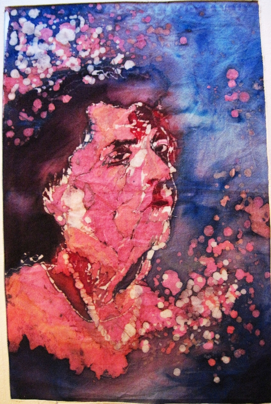 Margie's vacant expression. Dye (batik)