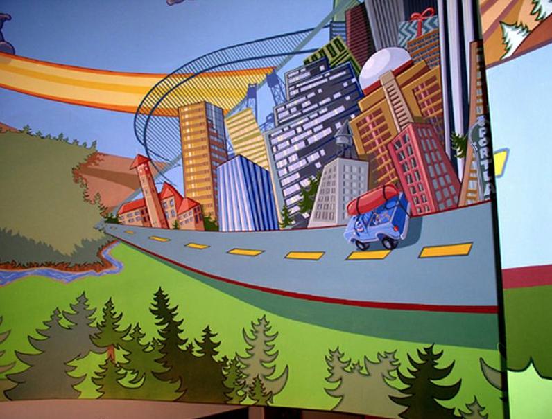 Yakima Car Rack Lobby Mural
