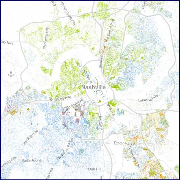 POINTS OF INTEREST: THE NEW RACIAL DOT DENSITY MAP — Southern Glossary
