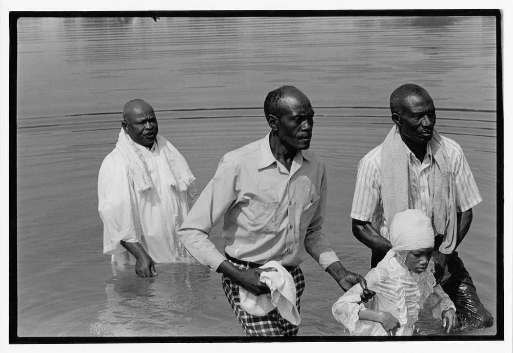 Mt Zuma baptizing in the Flint River, 1977