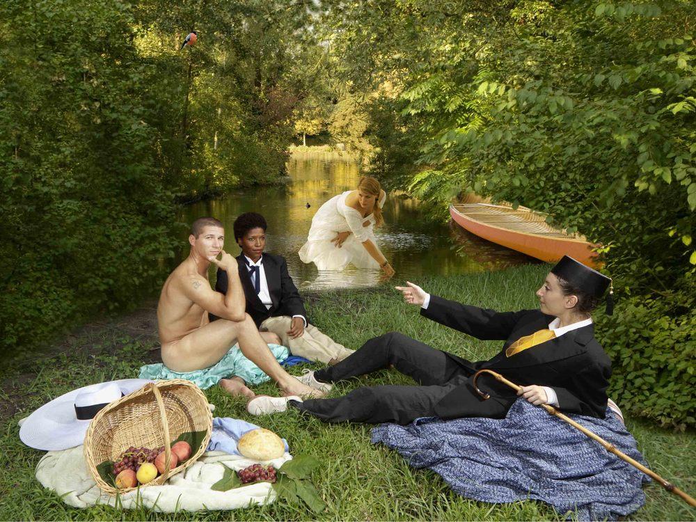 Ode to Manet's Dejeuner sur l'herbe