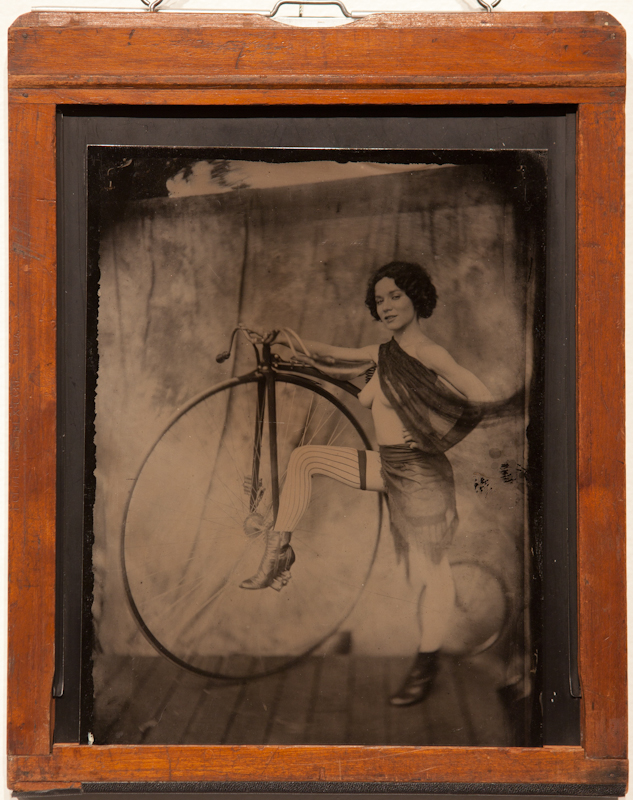 Cyclist - Tintype on Aluminum