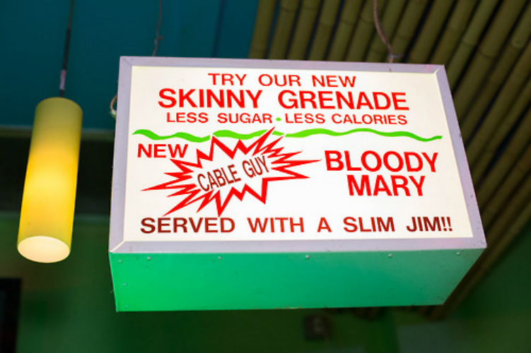New Skinny Grenade Served with a Slim Jim