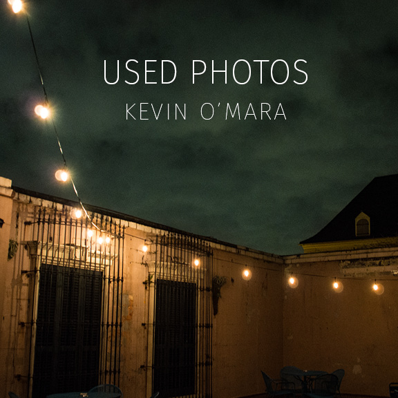 USED PHOTOS | Kevin O'Mara - Southern Glossary's first solo artist book in collaboration with photographer Kevin O'Mara. A self-taught photographer living in New Orleans, Louisiana with roots in middle Tennessee, Kevin O'Mara keeps an eye out for evocative night skies and vibrant decay. He collects books, bones, icons, skulls, and tokens. When not out with his camera he's usually busy making papier-mache masks in preparation for parading the streets of New Orleans during carnival season.Also available as a digital download