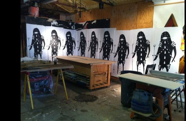 "Characters I call children of the night, 5'4"" screen prints for wheat pasting @mrsamrsamrsa for #southernglossary"