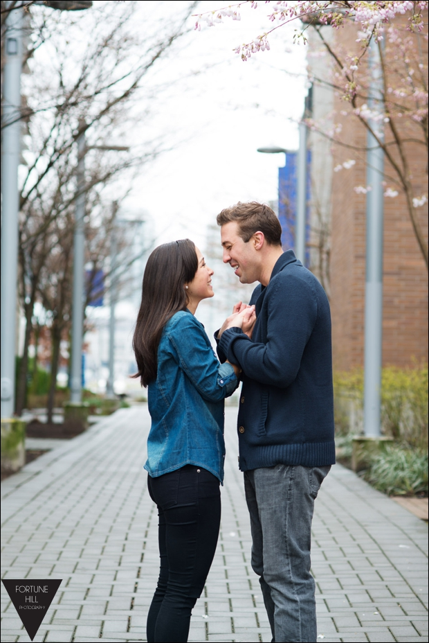 Olympic Village engagement photos